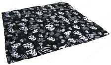 Unisex Black and White Skull Skeleton Print 100% Cotton Bandana Headband Brand