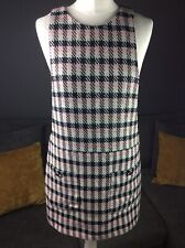 Bnwt Zara Trf Multi Check Dungaree Pinafore Dress W/pockets Size M Uk 10 D6