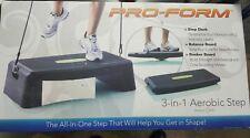 PRO-FORM 3-in-1 Aerobic Step Deck, Balance Board, and Rocker Board w/DVD