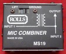 ROLLS MS-19 2 -> 1 TRANSFORMER ISOLATED MIC COMBINER W/ GROUND LIFT