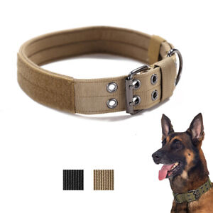 Nylon Metal Buckle Sturdy Large Dog Collar For Tactical Training Adjustable