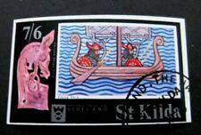 Scotland/St Kilda-1971-7/6 Minisheet-Used