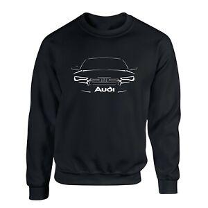 Audi Car Sleek Outline Quattro Racing tt r8 Pullover Sweater Sweatshirt S - 4XL