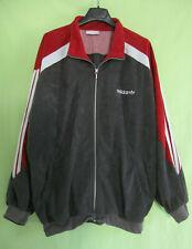 Veste Adidas années 80'S Vintage velour grise et bordeaux 80'S jacket - 192