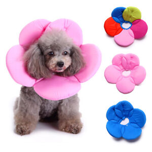Pet Elizabethan Collar Flower Shape Dog Cat Soft Anti-bite Recover Cone