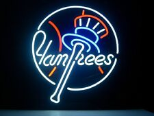 "New New York Yankees Real Glass Tube Neon Light Sign Art Garage Pub Sign 16""x14"""