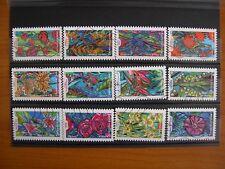 Série complète Fleurs 2016 (YT 1300 à 1311), 12 timbres