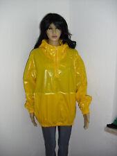 shiny nylon Schlupfjacke+ Hose PVC,Wet Look Gr.XL NEU Hoody Retro Regenanzug