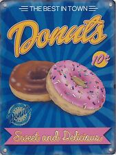 New 30x40cm Sweet & Delicious Donuts reproduction vintage metal advertising sign