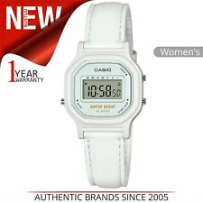 Casio Womens Water Resistant Watch│White Case│White Leather Band│LA-11WL-7AEF