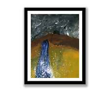 Abstract waterfall - Acrylic abstract painting unique gift (Print) ID : 1447