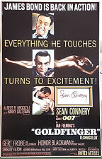 SEAN CONNERY Signed 16x10 Photo Display JAMES BOND GOLDFINGER & DR NO COA