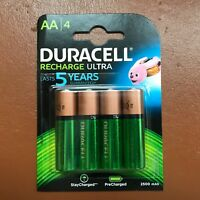 4 x Duracell AA 2500 mAh Rechargeable ULTRA Batteries  NiMH HR6 NEW Duralock