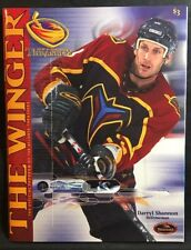The Winger Atlanta Thrashers Magazine Inaugural Season 1999-2000 Darryl Shannon