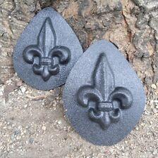 2 small fleur de lis molds embellishments plaster molds cement all molds moulds