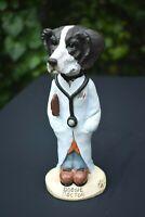 "Conversation Concepts Doogie Doctor Dog Black & White Pointer Sporting Dog 6.5"""