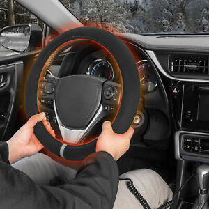 Heated Steering Wheel Cover - New Tangle Free Design Car Heating Hand Warmer