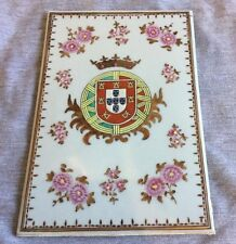 A Chinese Export Porcelain Plaque Famille Rose Tile