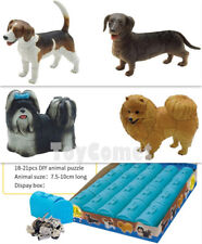 Set of 4 Cute Dogs Part II 4D 3D Animal Puzzle Model Kit DIY Educational Toy