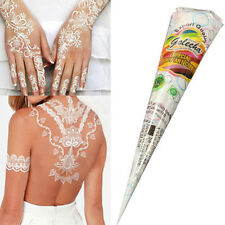 Natural Herbal Henna Cones Temporary Tattoo kit White Body Art DIY Paint Ink SET
