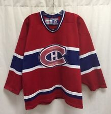 Vintage Montreal Canadiens CCM NHL Jersey Size Medium Red