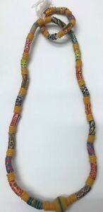 African Necklace and Bracelet  Bead Ghana African Multicolor Mixed  Marriage