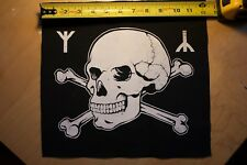 Skull, Bones and Runes- occult black metal back patch by Mike Vivisector
