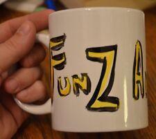 FUNZ AND GAMEZ hand painted original art mug 2014 Edinburgh comedy festival