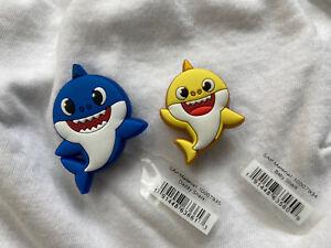 2 NWT Crocs Shoe Charms Jibbitz Baby Shark Daddy Shark