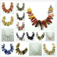 20PC/Set Natural mixing agate Pendant Gemstone Beads Necklace P1