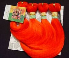 "YAKI JANET RED Toyokalon WE40 Hair Extensions! 12"" length, Four 52"" sections"