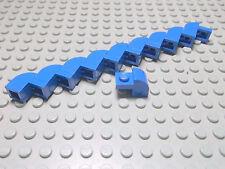 Lego 10 Rundsteine Bogensteine 2x1x1  blau  6091 Set 8163 10151 7877 5521