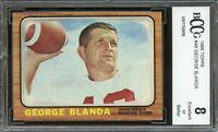 1966 topps #48 GEORGE BLANDA houston oilers BGS BCCG 8