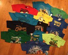 Lot of 13 Short Sleeve T-Shirt Minion Ninjago Skylanders Turtles LEGO Size Med
