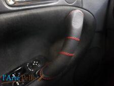 Copri maniglia destro e sinistro Alfa Romeo 147 vera pelle nera traforata