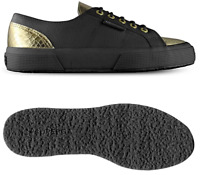 Superga Cotleanimal Women's Shoes S00A1P0 2750 Black Gold RRP £89.99