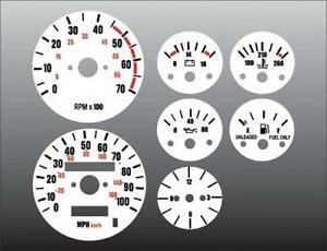 1987-1991 Jeep Wrangler YJ Dash Instrument Cluster White Face Gauges 87-91