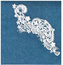 Gorgeous White Venice Venise Lace Applique Medallion Crafts Bridal Trim #5511a