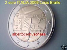 2 euro 2009 ITALIA fdc UNC Louis Braille italie italien italy 意大利 Италия Włochy