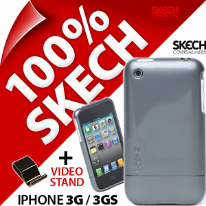 Skech Shine Case Titanium Grey Armour Hard Cover+Stand for Apple iPhone 3G / 3GS