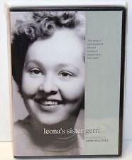 LEONA'S SISTER GERRI - Documentary by Jane Gillooly - DVD - NEW