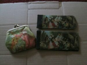 VINTAGE STYLE PURSE. GLASSES CASE AND COMB WITH CASE GOOD CONDITION