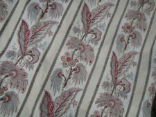 Paire RIDEAUX TISSU ANCIEN Indiennes 280 cm L x 86cm l Curtain Fabric Cutter