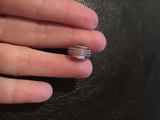 Authentic Pandora Murano Glass Bead Shades Mauve/Pink Stripes