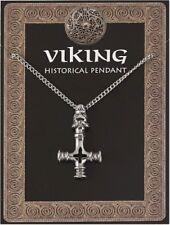 Viking I Draghi Testa Croce Amuleto Ciondolo in peltro su catena