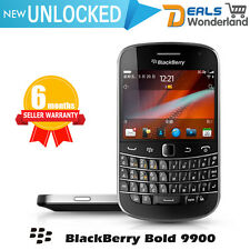 New BlackBerry Bold 9900 Unlocked  Qwerty Phone Black Free Gifts