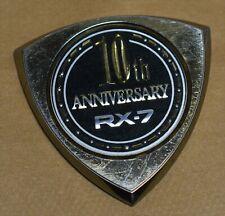 88 Mazda RX7 10th Anniversary Rotor Logo Fender Emblem - RARE OEM Badge Decal