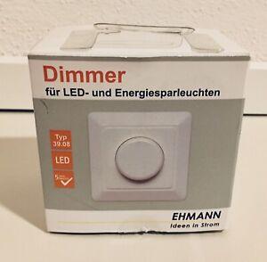 Ehmann LED Phasenanschnitt Dimmer T39.08 20-250W/VA LED 3-85W mit Garantie