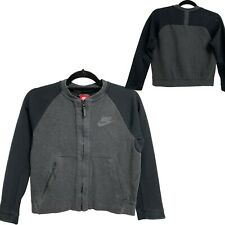 Nike Black ang Gray Sweatshirt Full Zip Up Jacket Girl's L (D-3E)