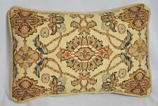 Pillow made w Ralph Lauren Northern Cape Rug Floral Tapestry Fabric 17 x 11 cord